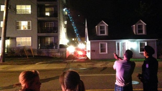 Three units in a Fredericton apartment building were damaged by a fire that started on Thursday night.