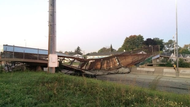Police say they're not sure how long I-96 will be closed after Detroit's Cathedral Road pedestrian bridge collapsed on the highway following Friday morning's accident, closing the roadway in both directions.