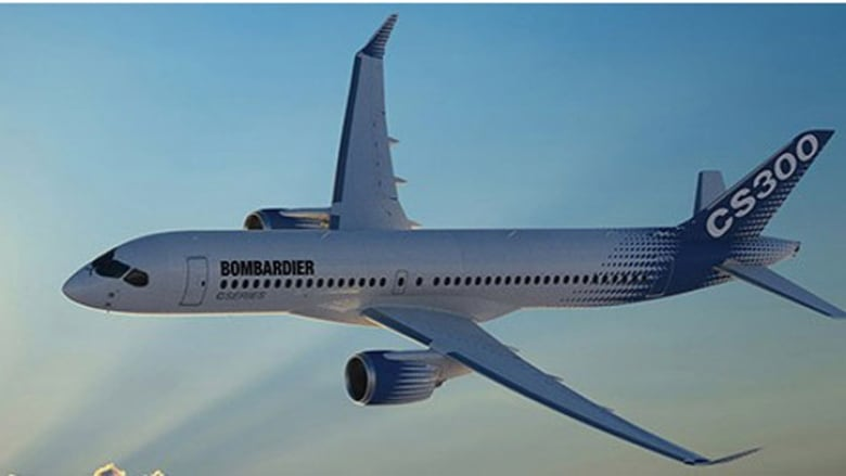 bombardier stock boosted by big order for cseries jets cbc news