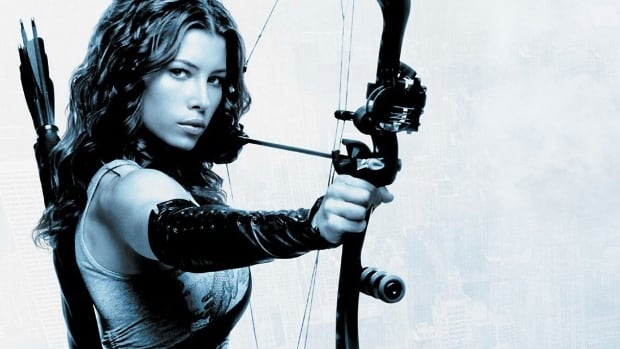 This bow used by Jessica Biel in the movie, Blade Trinity, has been stolen from an archery shop in New Westminster, B.C.