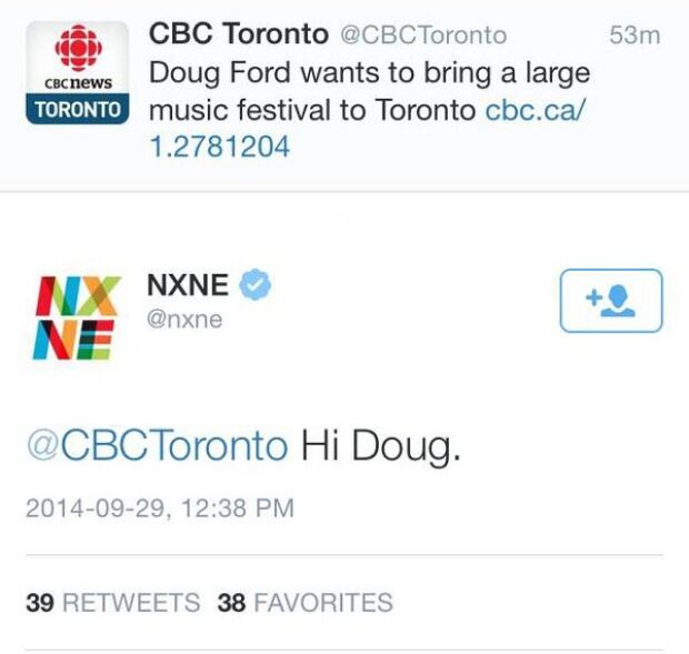 NXNE reminds Doug Ford of its existence