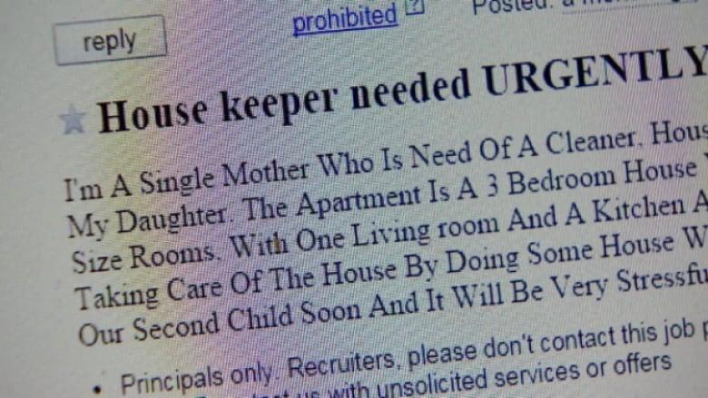 Edmonton single mother barely escapes internet 'nanny scam