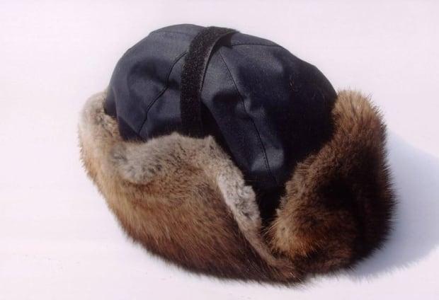 RCMP-style muskrat winter hat
