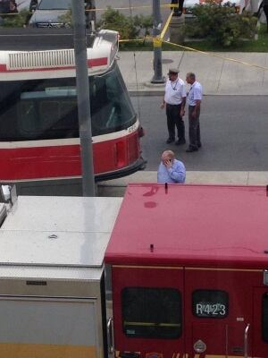 Rob Ford helping streetcar collision