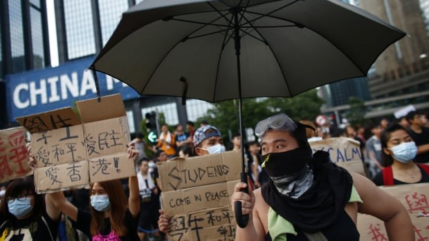 Pro-democracy activists want Hong Kong's leader, Leung Chun-ying, to step down by the end of day Thursday.