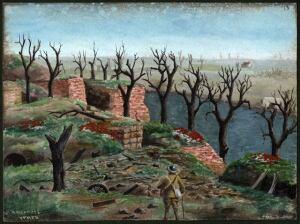 """JM First World War sketchbook - """"Ramparts Ypres"""""""
