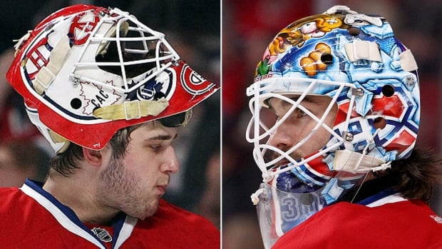 Goalies Dustin Tokarski, left, and Peter Budaj, right, are battling for the job to back up Canadiens starter Carey Price. Each has had a strong training camp so head coach Michel Therrien might wait a few days to make a decision. There is an outside chance Montreal could start the season with three netminders.