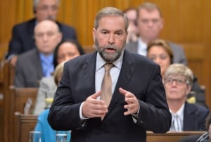 NDP Leader Tom Mulcair στο ISIS αποστολή κίνησης