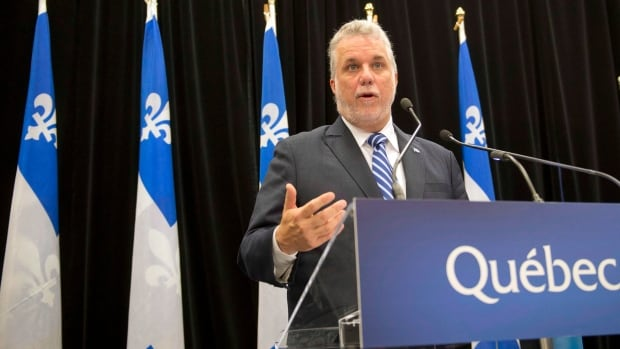 Quebec Premier Philippe Couillard, who is the father of a soldier, says he approves of a military combat mission by Canada in the Middle East.