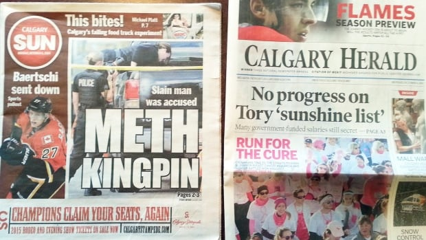 The Calgary Herald and the Calgary Sun could soon have one owner.