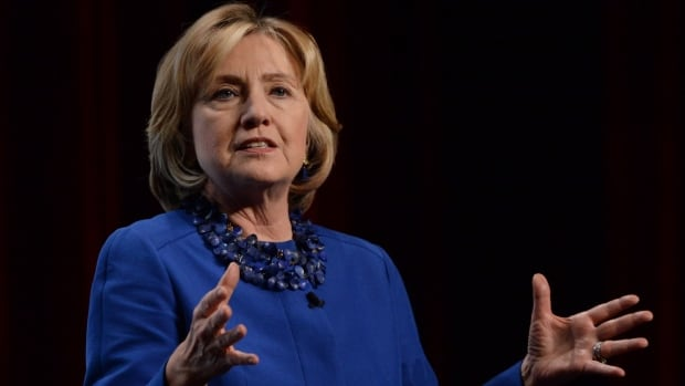 Former U.S. secretary of state Hillary Clinton told the Canada 2020 conference in Ottawa that her country will 'welcome and respect' whatever contribution Canada decides to make to the mission against ISIS in Iraq.