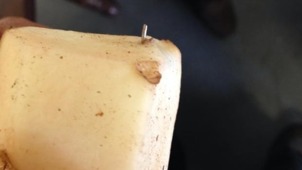 This peeled potato was the one brought to the company's attention.