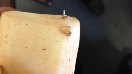 image of pin in potato