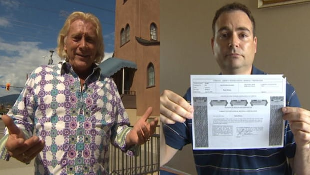 Len Lindstrom (left) is a former evangelist who sold shares in his African gold mining company to 700 Canadians, including Saskatoon's Dean Britton (right).