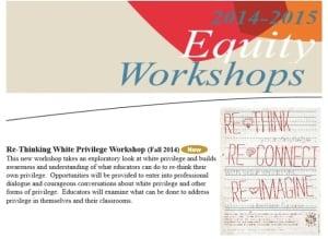 A description of the white privilege workshop
