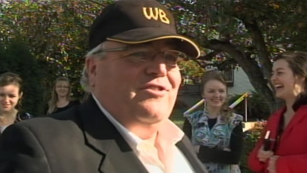 Winston Blackmore appeared outside the courthouse in Creston, B.C., on Oct. 9, 2014 along with a number of his daughters, who came to support him. Blackmore, the leader of a fundamentalist sect located in Bountiful, B.C., is charged with polygamy.