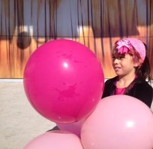 Isabella Burgos with balloons