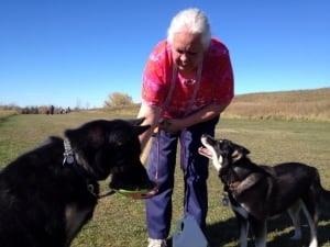 Donna Turner with dogs