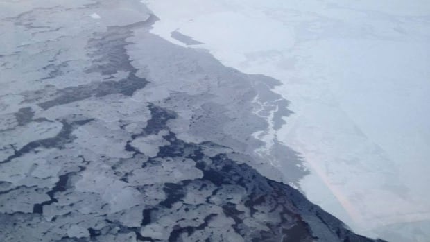 A photo by The National Oceanic and Atmospheric Administration shows Arctic sea ice in 2013.