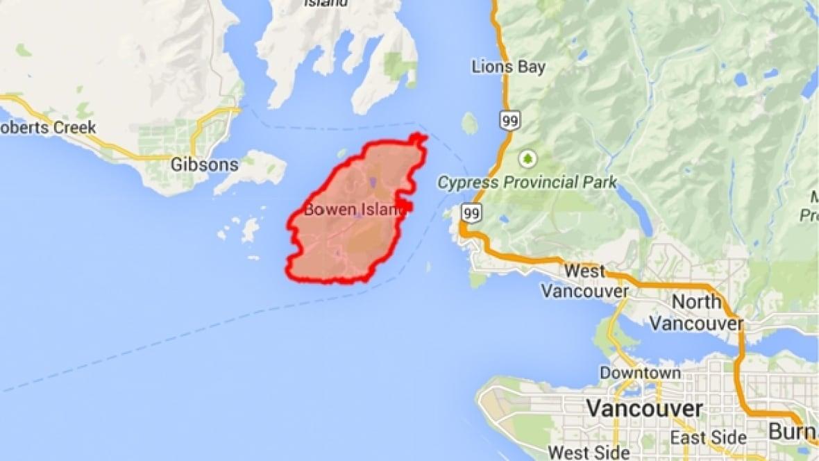 Bowen Island Canada Map