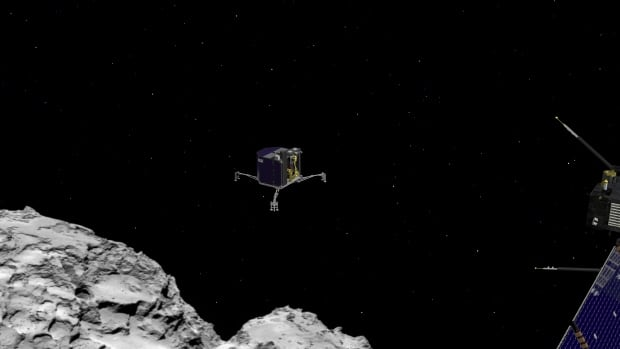 The unmanned probe Rosetta will release the 100-kilogram lander Philae, shown in this artist's conception, at 0835 GMT (3:35 ET) on Nov. 12.