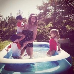 Sarah Turpin and her children