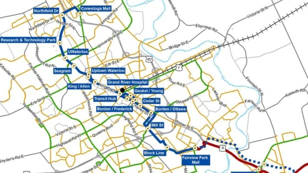 Waterloo LRT map