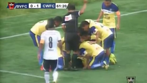 Indian soccer player dies from goal-celebration injury