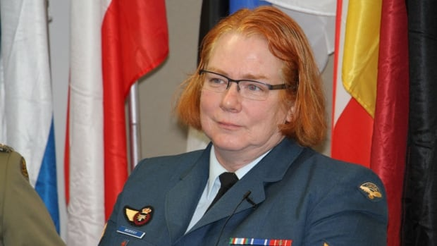 Cpl. Natalie Murray, a Canadian Forces member, spoke at a conference in Washington, D.C., on Monday, where she shared her experience of transitioning from male to female while serving in the air force. The United States military does not allow transgender members. Canada does.