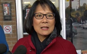 Olivia Chow on the campaign trail