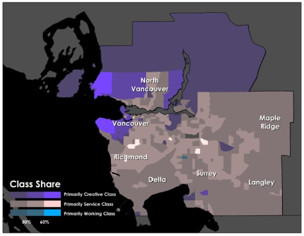 Vancouver demographics map