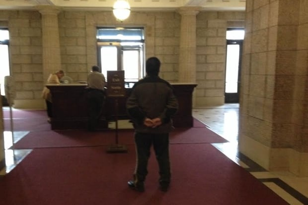 Guard inside legislature