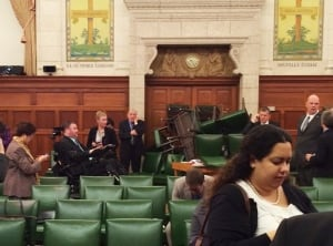 Conservative Party caucus room barricade Oct 22