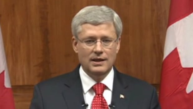 Prime Minister Stephen Harper addressed the country hours after the attack on Parliament last week. Harper told Conservative MPs Wednesday he was sorry he left them during the attack by gunman Michael Zehaf-Bibeau.