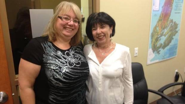 Maggie Roach-Ganaway, left, and Brenda Tomie say Caregivers Nova Scotia helps people feel less alone when dealing with ageing family members.