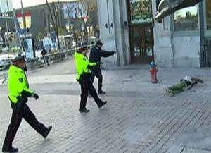 Ottawa Parliament Shooting Arrest War Memorial