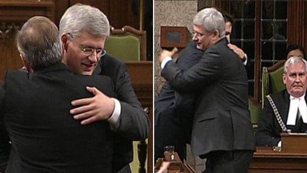 Prime Minister Stephen Harper embraces NDP Leader Tom Mulcair, left, and Liberal Leader Justin Trudeau, right, in the Commons one day after a gunman charged security on Parliament Hill. It was a moment of unity amid a tumultuous year in politics. How many events of the year can you identify in our year-end quiz?