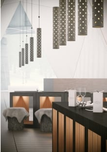 OS31 concept drawings for RAW: almond pop up on ice restaurant
