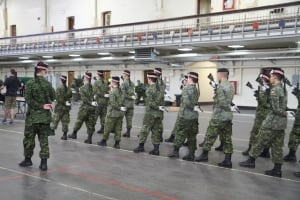 Argylls regiment practicing drills