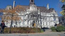 Montreal City Hall in fall