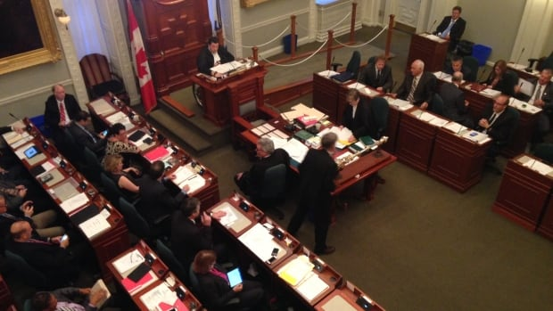 Nova Scotia's politicians spent another night debating the merits of a controversial government bill that would grant the governing Liberals the power to set public sector wages for the next four years.