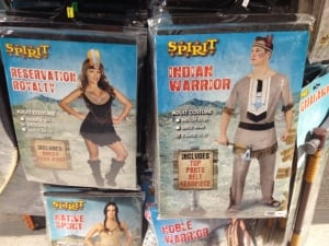 Aboriginal costumes at Spirit Halloween, Winnipeg