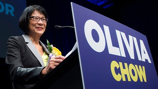 Olivia Chow, who resigned her federal seat in 2014 to run for mayor in Toronto, will run in this fall's federal election.