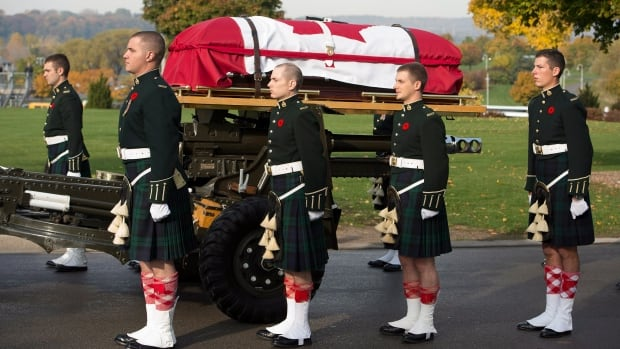 Thousands gathered to pay tribute to Cpl. Nathan Cirillo during his funeral procession in Hamilton.