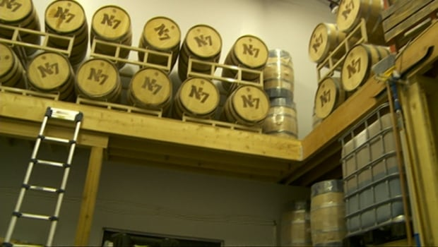 Barrels of spirits