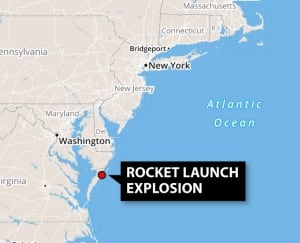 Rocket launch explosion map
