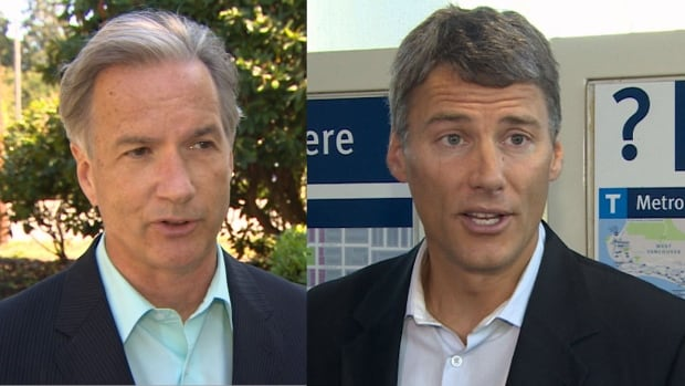 Mayoral candidates Kirk LaPointe and Gregor Robertson agreed to release their parties' list of donors, after CBC enquiries about campaign financing.