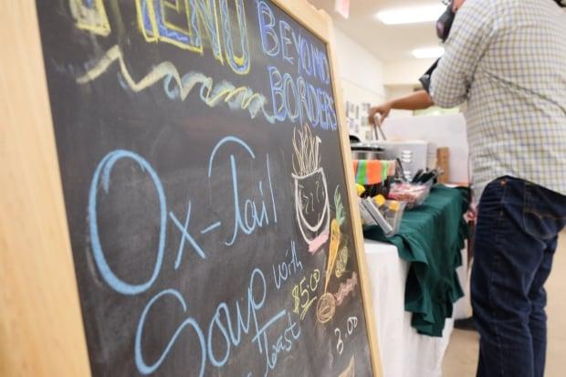 Knox community kitchen oxtail soup sign