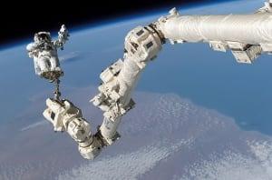 NASA astronaut Stephen Robinson Canadarm2