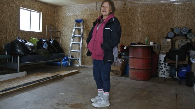 Darlene Necan faces charges under the Public Lands Act for attempting to build her own home.